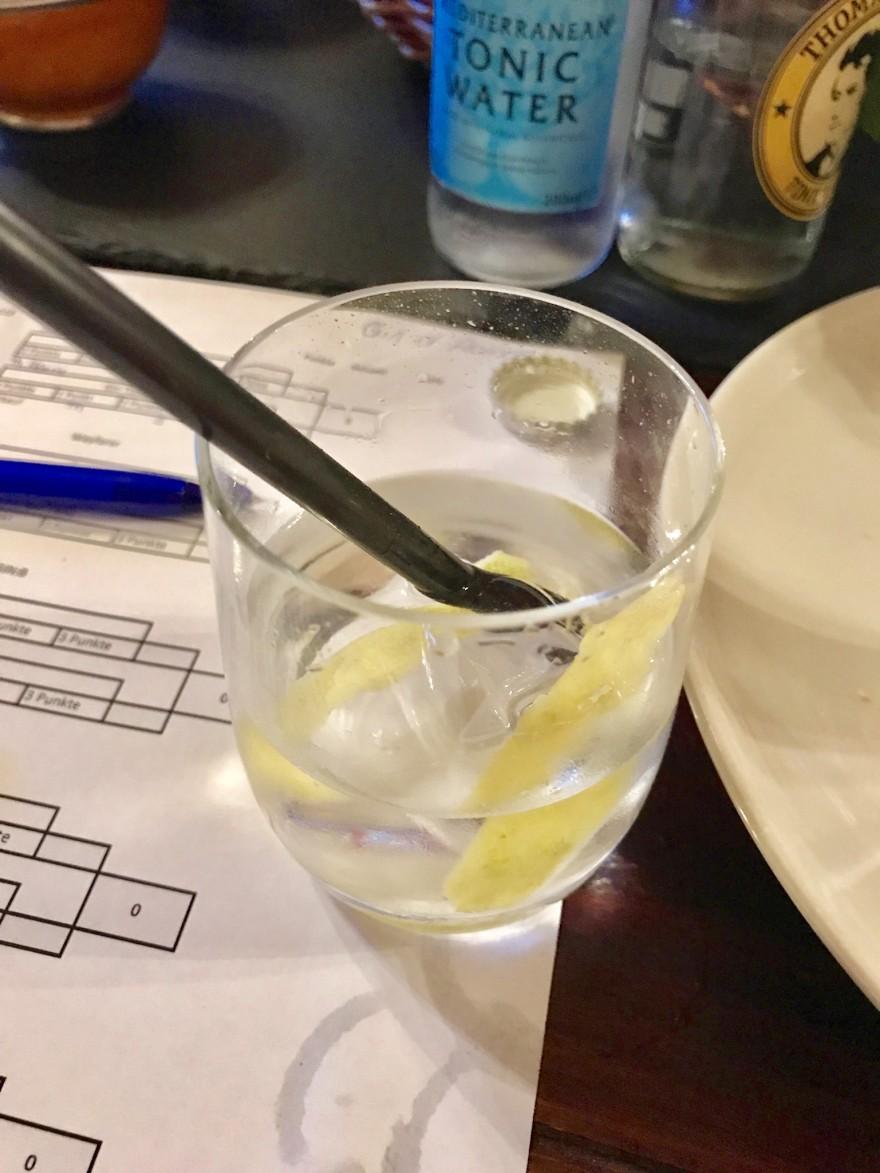 Gin Tonic mit Zitrone