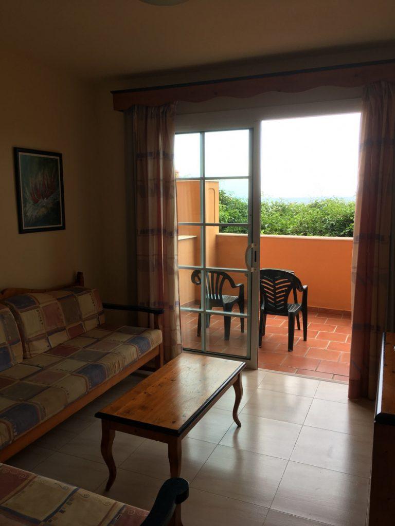 Wohnzimmer und Balkon Las Olas