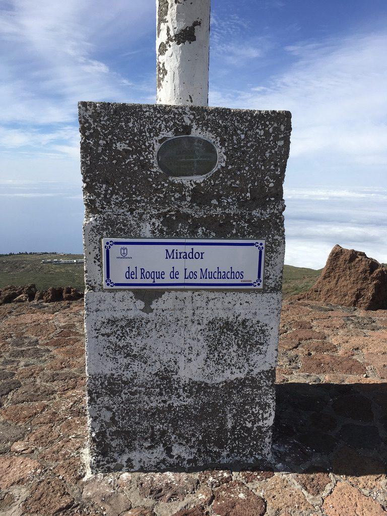 Roque de los Muchachos Gipfelkreuz