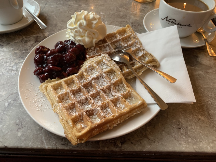 Cafehaus Nottebrock Bad Honnef Waffeln in Nahaufnahme